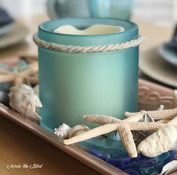 Coastal Jar Makeover with Sea Glass Paint