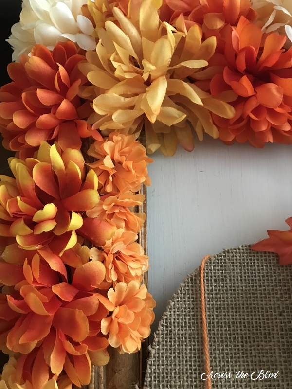 Fall Floral Frame Wreath