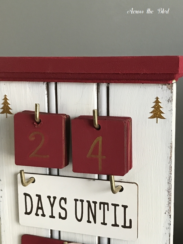 Christmas Countdown Thrift Store Find Makeover