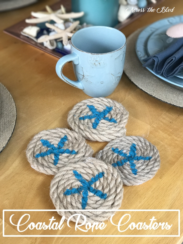 Coastal Starfish Rope Coasters Across the Blvd