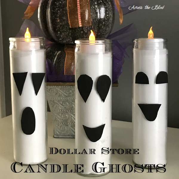 Dollar Store Candle Ghosts Square