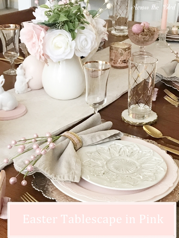Easter Tablescape in Pink