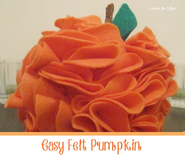 DIY Felt Pumpkin Across the Blvd