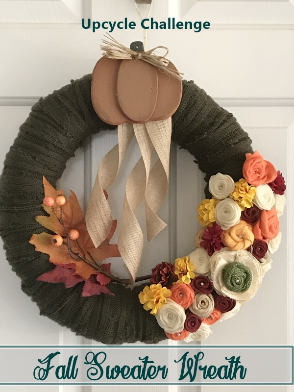 Fall Sweater Wreath Upcycle Challenge