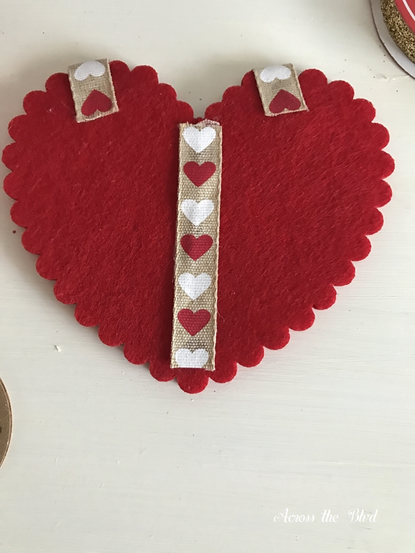 Handmade Valentine's Day Heart Card with ribbon