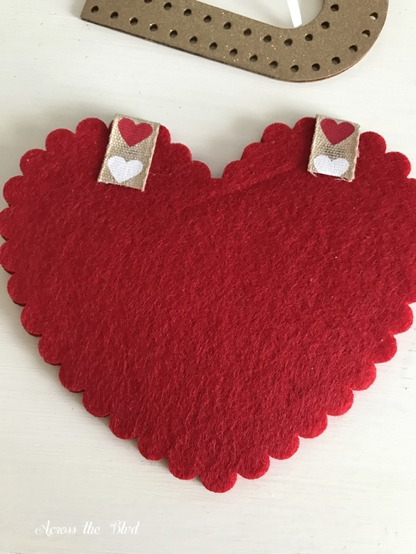 Handmade Valentine's Day Heart Card ribbon
