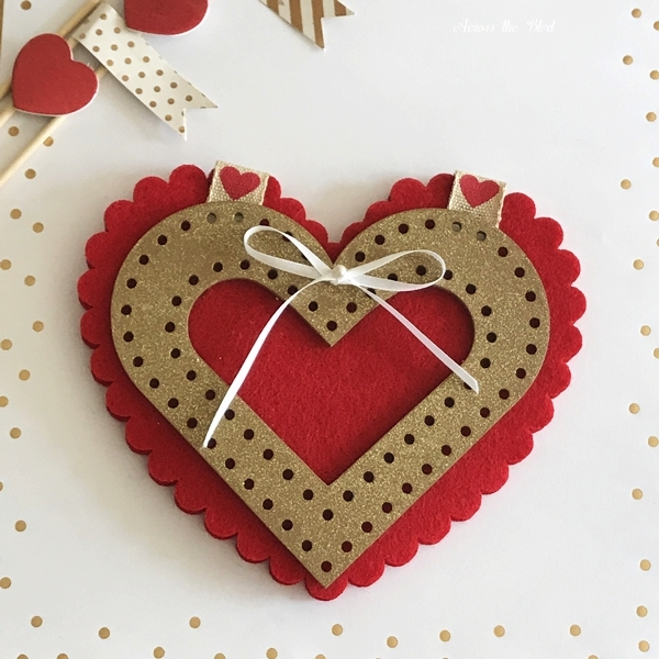 Handmade Valentine's Day Heart Card