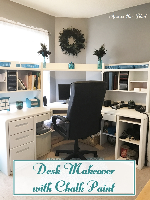 Large Desk Makeover with Chalk Paint