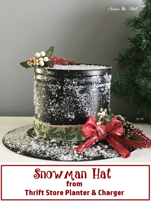 Snowman Hat from Thrift Store Items
