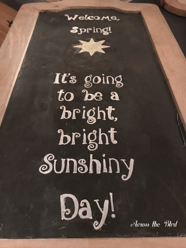 Spring Chalkboard Art Using Saral Paper