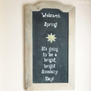 welcome spring chalkboard