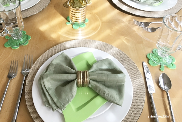 St. Patrick's Day Tablescape & Easy DIY Coasters Across the Blvd