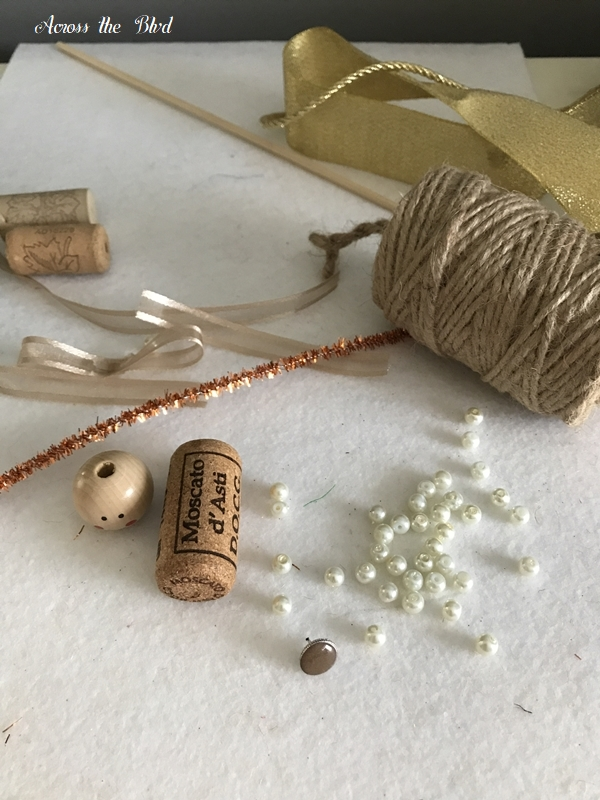 Wine Cork Angel Ornaments supplies