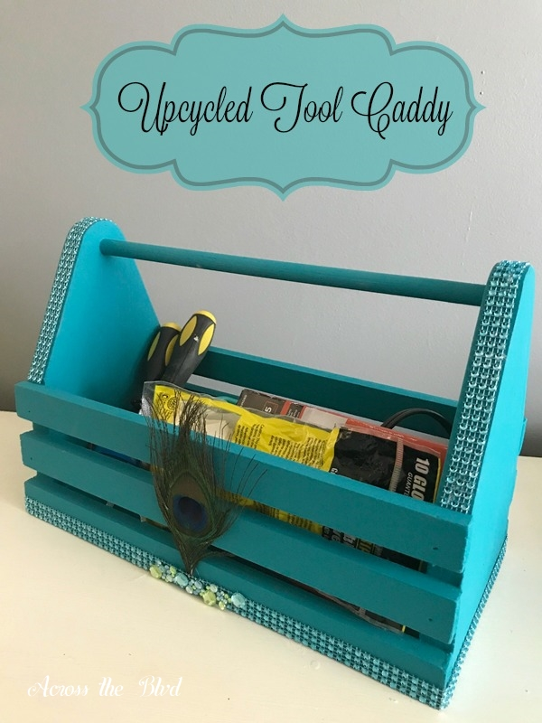 Ucycled Caddy for Craft Tool Storage