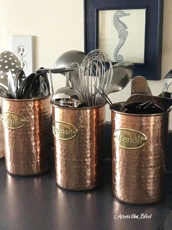 copper utensil holders